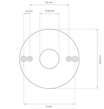 Q/R/CUBIC 36/49/64 SERIES, MOUNTING RING DIRECT MOUNTING S