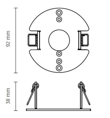 Q/R/CUBIC 36/49/64 SERIES, MOUNTING RING CAVITY MOUNTING