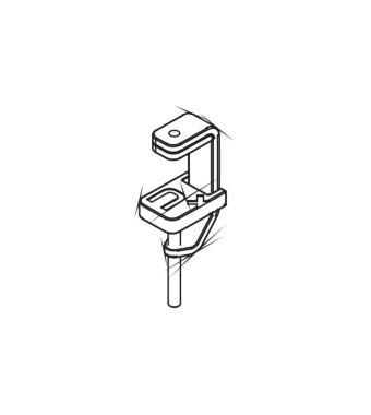 ROXXANE, TABLE CLAMP MAXIMUM CLIP OPENING 53 MM ZINC