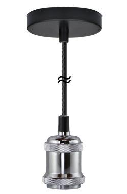 PENDANT LAMP CHICAGO SILVER  E27