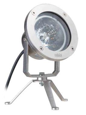 SPOT AR111-50W OP VOET Z/TR.IP68 INOX316