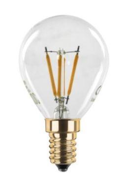 LED DROP LAMP CLEAR 24V DC  2200K E14 230LM