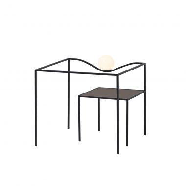 HECO SQUARE TABLE SURFACE LONDON BROWN