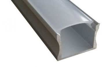 ALUMINIUM PROFILE 22,60 X 15,70 X 2.000,00 MM +FROSTED COVER