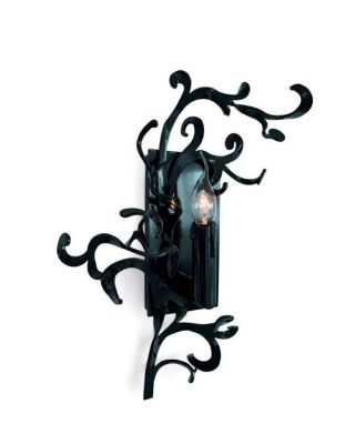 FLOWER POWER WALL LAMP W.30XH.40XD.14 CM BLACK FINISH, LEFT