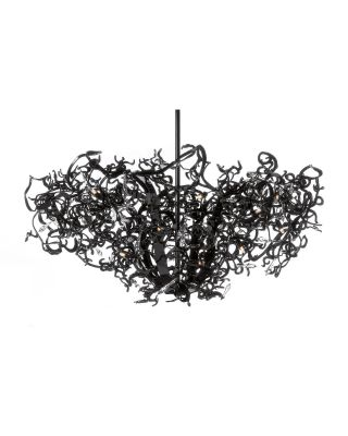 ICY LADY CHANDELIER ROUND UPSIDE DOWN Ø120XH.55 CM BLACK FIN
