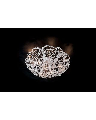 ICY LADY CEILING LAMP ROUND Ø80XH.35 CM WHITE FINISH