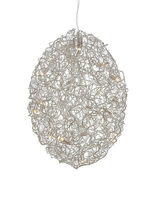 CRYSTAL WATERS HANGING LAMP Ø60XH.90 CM NICKEL FINISH