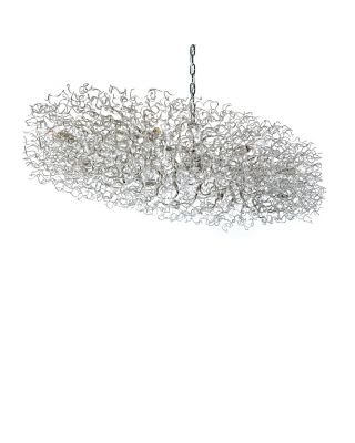 HOLLYWOOD CHANDELIER OVAL L.140XW.70XH.25 CM NICKEL FINISH
