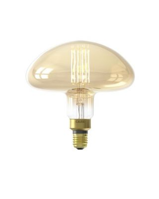 XXL CALGARY LED LAMP 240V 6W 600LM E27 MS195, GOLD 2200K DIM