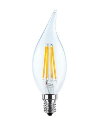 LED CANDLE FLAME CLEAR  2700 K E14 340 LM