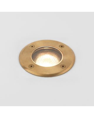 GRAMOS ROUND COASTAL LED SPOT BRASS GU10