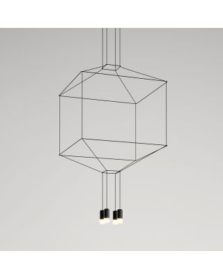 WIREFLOW CUA HANGING LAMP BLACK LACQUER DIMMABLE