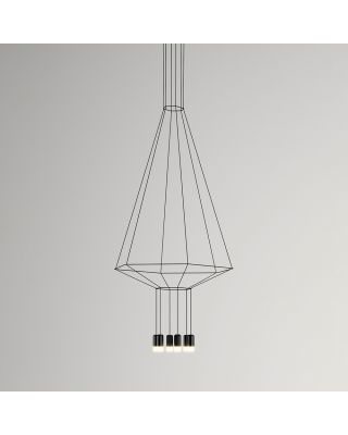 WIREFLOW HEX HANGING LAMP BLACK LACQUER DIMMABLE