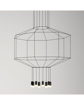 WIREFLOW OCT HANGING LAMP BLACK LACQUER DIMMABLE