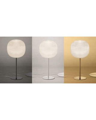 FOSCARINI GEM LAMPE DE TABLE E27 BLANC