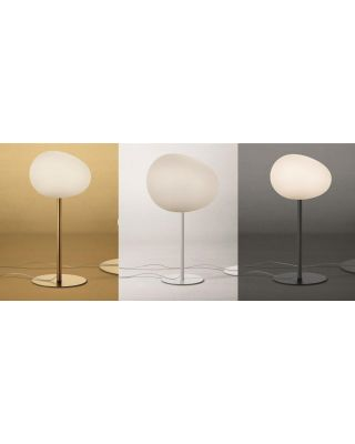 FOSCARINI GREGG LAMPE DE TABLE E27 BLANC