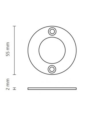Q/CUBIC 9, MOUNTING RING DIRECT MOUNTING STEEL, GALVANISED