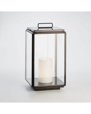 ILFORD FLOOR LARGE ON 230V DARK BRONZE CLEAR GLASS (CANDLE C