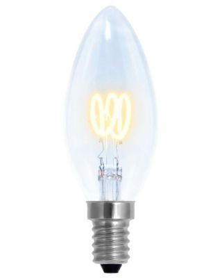 LED CANDLE CURVED CLEAR  2000-2800K E14 160LM
