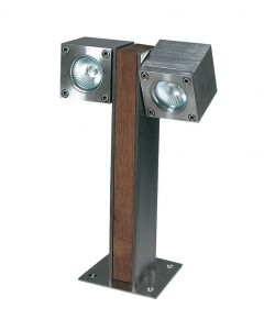 Q-BIC 30 CM - 2 LAMPS - STAINLESS STEEL - ELECTRO POLLISHED