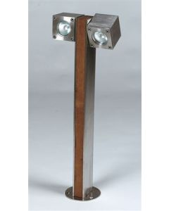 Q-BIC 60 CM -2 LAMPS - STAINLESS STEEL - ELECTRO POLLISHED -