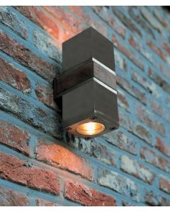 Q-BIC WALL - 2 LAMPS - STAINLESS STEEL - ELECTRO POLLISHED -