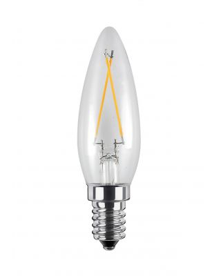 LED DUTCH CANDLE CLEAR 2,7W  2600K 200LM
