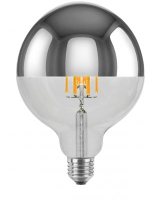 LED GLOBE 125 5.5W MIRROR HEADED 2000K-2900K 430LM