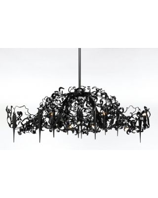 FLOWER POWER CHANDELIER OVAL L.135XW.65XH.45 CM BLACK FINISH