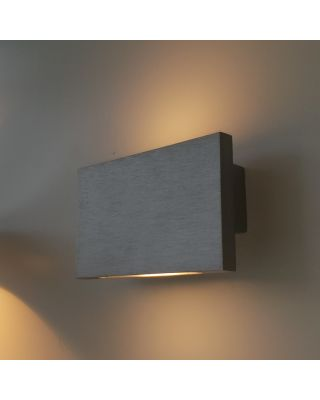 TRATTO WALL DUAL EMISSION LED 8,4W BRUSHED ALUMINIUM