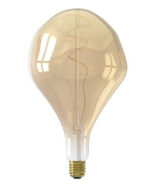 XXL PARIS LED LAMP 240V 6W 350LM E27 LS200, GOLD 2200K DIMMA