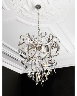 DELPHINIUM CHANDELIER CONICAL NICKEL FINISH