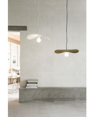 LIDO SUSPENSION WHITE or RUBBED BRASS