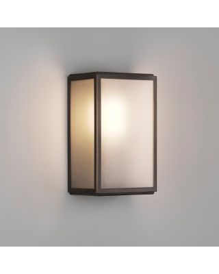 HOMEFIELD WANDLICHT FROSTED IP44 BRONS